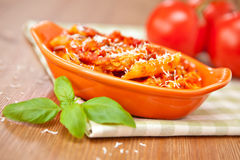 Spicy chicken penne pasta Royalty Free Stock Image