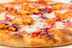 Spicy chicken pizza Royalty Free Stock Image