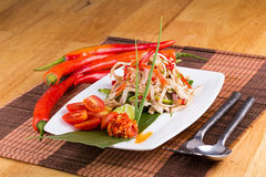 Spicy Chicken salad, Thai food. Royalty Free Stock Image