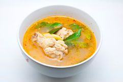Spicy chicken soup Stock Image