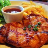 Spicy chicken steak Royalty Free Stock Photography