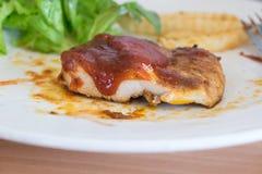 Spicy Chicken steak Stock Photo