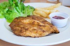 Spicy Chicken steak Stock Photography