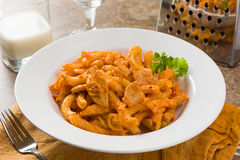 Spicy Chicken Torchietti Stock Photography