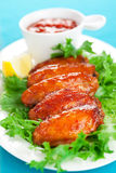 Spicy chicken wings Royalty Free Stock Photography
