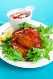 Spicy chicken wings Royalty Free Stock Image