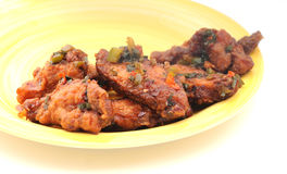 Spicy chicken wings Stock Images