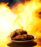 Spicy chicken wings Royalty Free Stock Photos