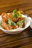 Spicy Chicken Wings. A bowl of Spicy Chicken Wings ready to be served Royalty Free Stock Images