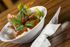 Spicy Chicken Wings. A bowl of Spicy Chicken Wings ready to be served Stock Photography