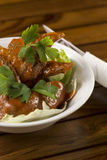 Spicy Chicken Wings. A bowl of Spicy Chicken Wings ready to be served Stock Photo