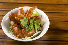Spicy Chicken Wings. A bowl of Spicy Chicken Wings ready to be served Stock Image