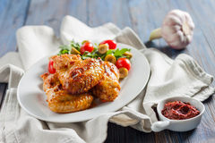 Spicy chicken wings Buffalo Royalty Free Stock Images