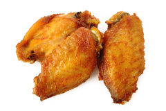 Spicy chicken wings. On white background Stock Image
