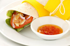 Spicy Chicken Wrap Royalty Free Stock Images