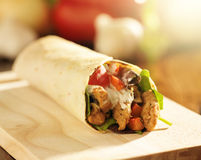 Spicy chicken wrap Stock Images