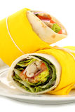 Spicy Chicken Wraps Stock Images