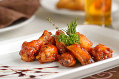 Spicy chiken wings Royalty Free Stock Photos