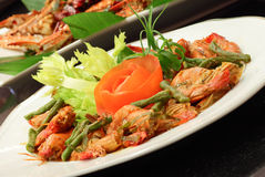 Spicy Chili Prawn Royalty Free Stock Image