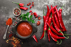 Free Spicy Chili Sauce, Ketchup Royalty Free Stock Photography - 79647707