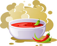 Spicy chili soup Royalty Free Stock Image