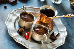 Spicy Chili Spanish Hot Chocolate Royalty Free Stock Photos