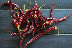 Spicy chilies Stock Images