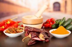 Spicy chilli aji chili varieties Royalty Free Stock Image
