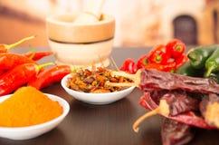Spicy chilli aji chili varieties Royalty Free Stock Photography