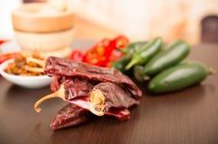 Spicy chilli aji chili varieties Stock Photos