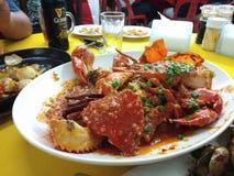 Chili crab. Spicy chilli crab Stock Photography