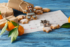Spicy Christmas background. ingredients for cooking baking. spac Royalty Free Stock Images