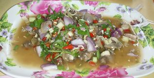 Spicy clams salad Stock Photo