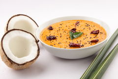 Spicy coconut chutney. Royalty Free Stock Photo