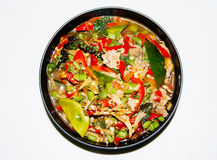 Spicy and colorful menu in thai food style Royalty Free Stock Images