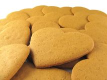 Spicy cookies. Gingerbreads in a hearts form Stock Photo
