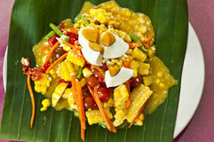 Spicy corn salad. Stock Photos