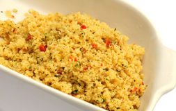 Spicy couscous. Shot of some spicy couscous in a dish Royalty Free Stock Photography