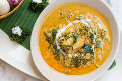 Spicy crab curry soup Royalty Free Stock Photos