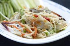 Spicy crab papaya salad Royalty Free Stock Photography