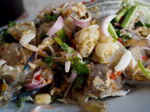 Spicy Crab Salad Thai food. In restaurant Stock Images
