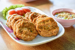 Spicy curry fried fish patty Royalty Free Stock Image