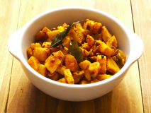 Spicy curry potatoes Royalty Free Stock Images