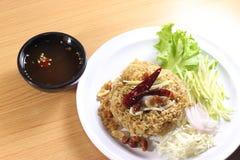 Spicy deep-fried catfish salad Royalty Free Stock Photo