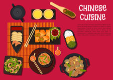 Spicy dinner with north chinese cuisine dishes Stock Photos
