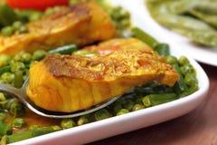 Spicy dish of bighead carp Stock Image