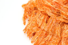 Spicy dried squid,isolate Stock Photography