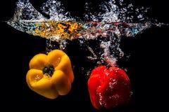 Spicy drop water. Splash Royalty Free Stock Photos