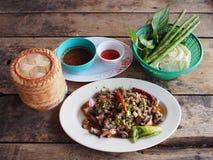 Spicy duck salad Stock Photos