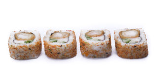 Spicy ebi maki sushi Royalty Free Stock Photo